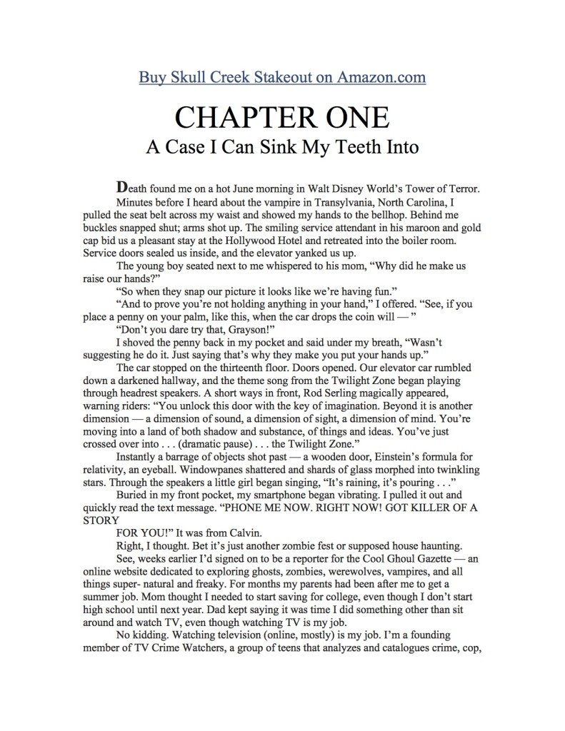 Chapter One Skull Creek Stakeout